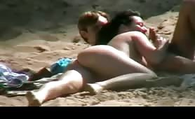 Amateur oral sex with nudist couple